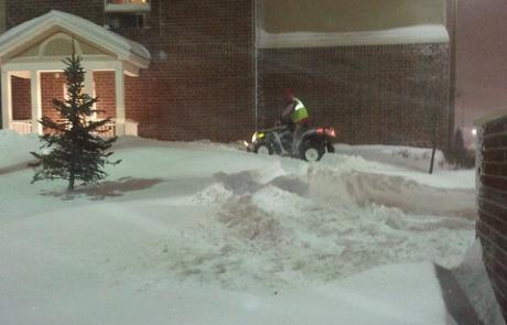Martz Bros 4 wheeler snow removal