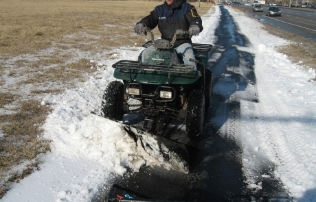 Martz Bros 4 wheeler snow removal