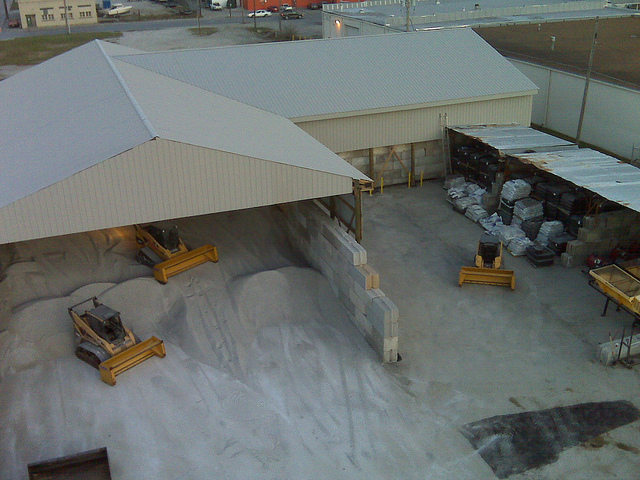 Martz Bros Salt Depot Snow